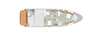 Classica 70 tre cabine matrimoniali (e una per equipaggio con 2 letti)