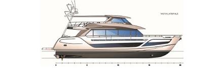 Versione a 3 o 4 cabine doppie o matrimoniali più 2 posti letto per equipaggio